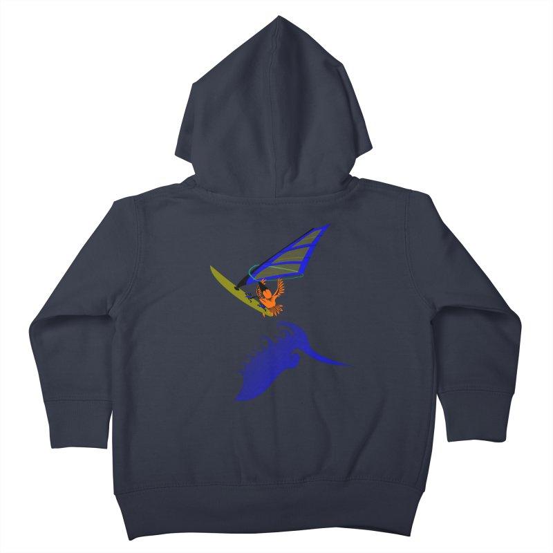 Windsurfing  Kids Toddler Zip-Up Hoody by kouzza's Artist Shop