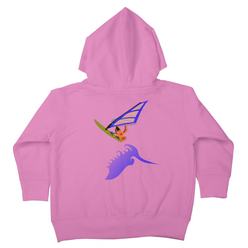 Windsurfing  Kids Toddler Zip-Up Hoody by kouzza's Artist Shop