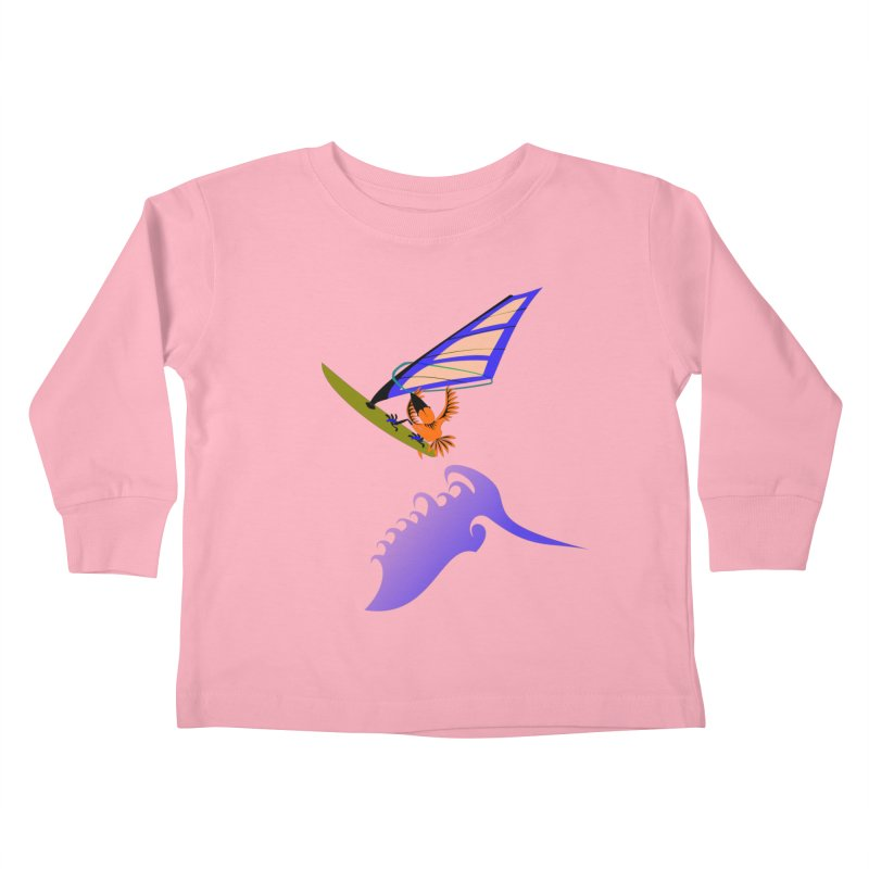 Windsurfing  Kids Toddler Longsleeve T-Shirt by kouzza's Artist Shop