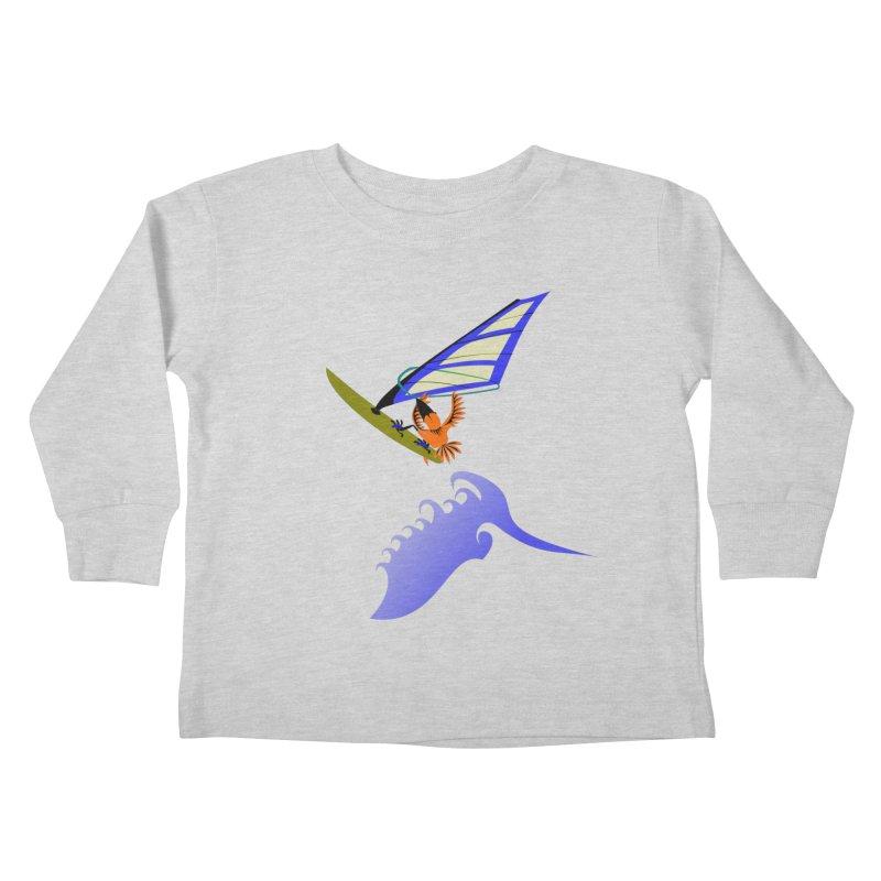 Windsurfing  Kids Toddler Longsleeve T-Shirt by kouzza's Artist Shop