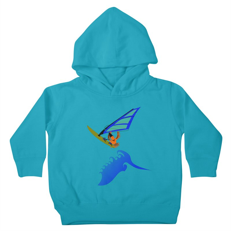 Windsurfing  Kids Toddler Pullover Hoody by kouzza's Artist Shop