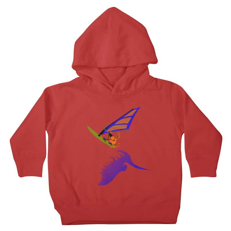 Windsurfing  Kids Toddler Pullover Hoody by kouzza's Artist Shop