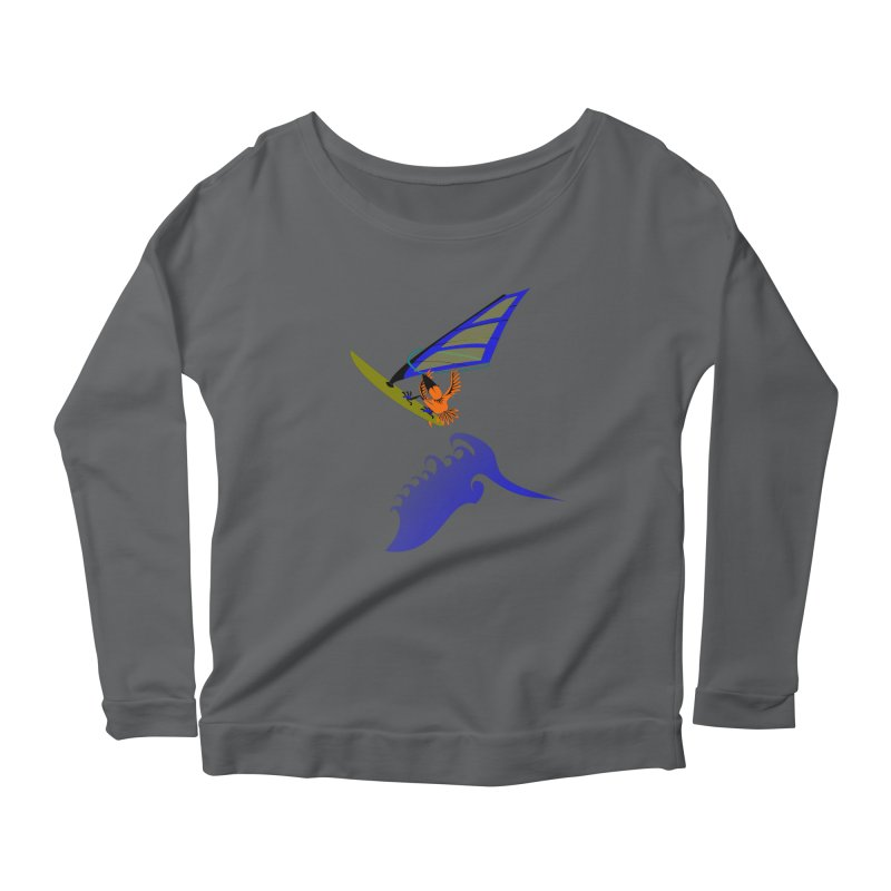 Windsurfing  Women's Longsleeve T-Shirt by kouzza's Artist Shop