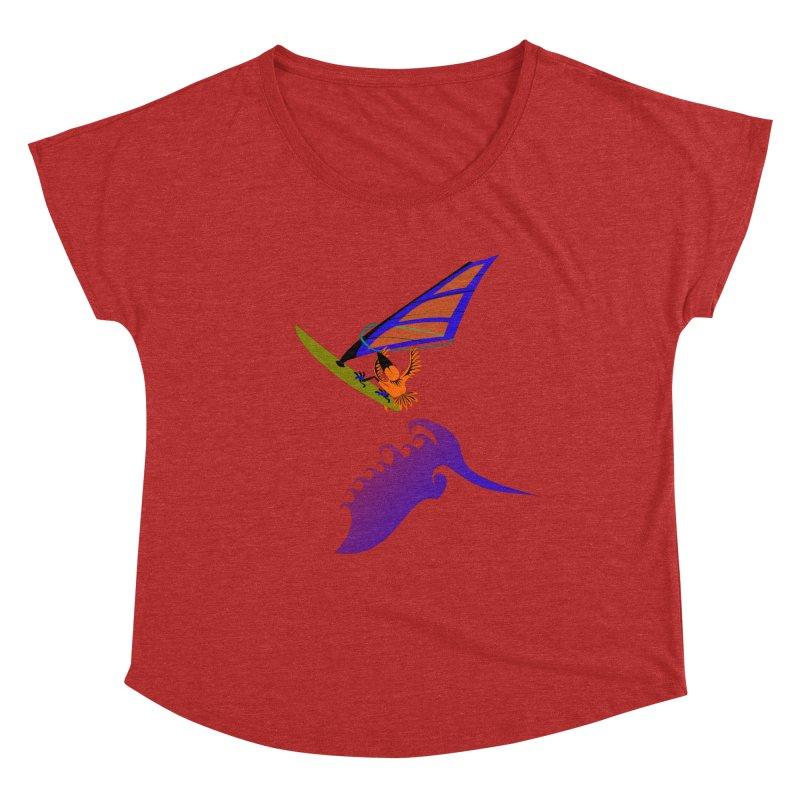 Windsurfing  Women's Dolman Scoop Neck by kouzza's Artist Shop