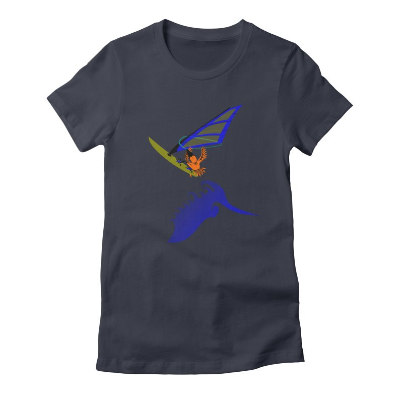 Windsurfing  Women's T-Shirt by kouzza's Artist Shop