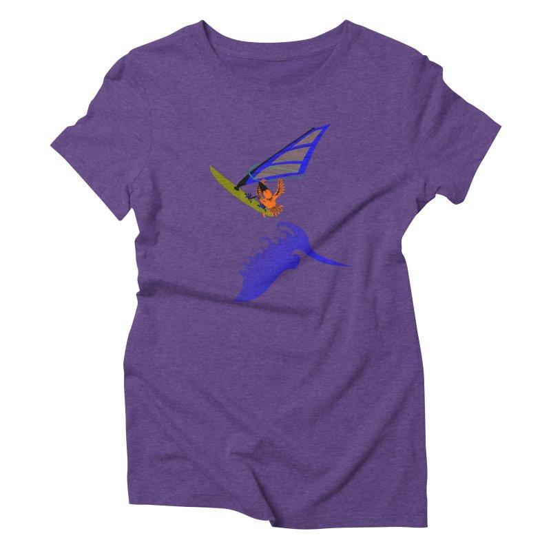 Windsurfing  Women's T-Shirt by kouzza's Artist Shop