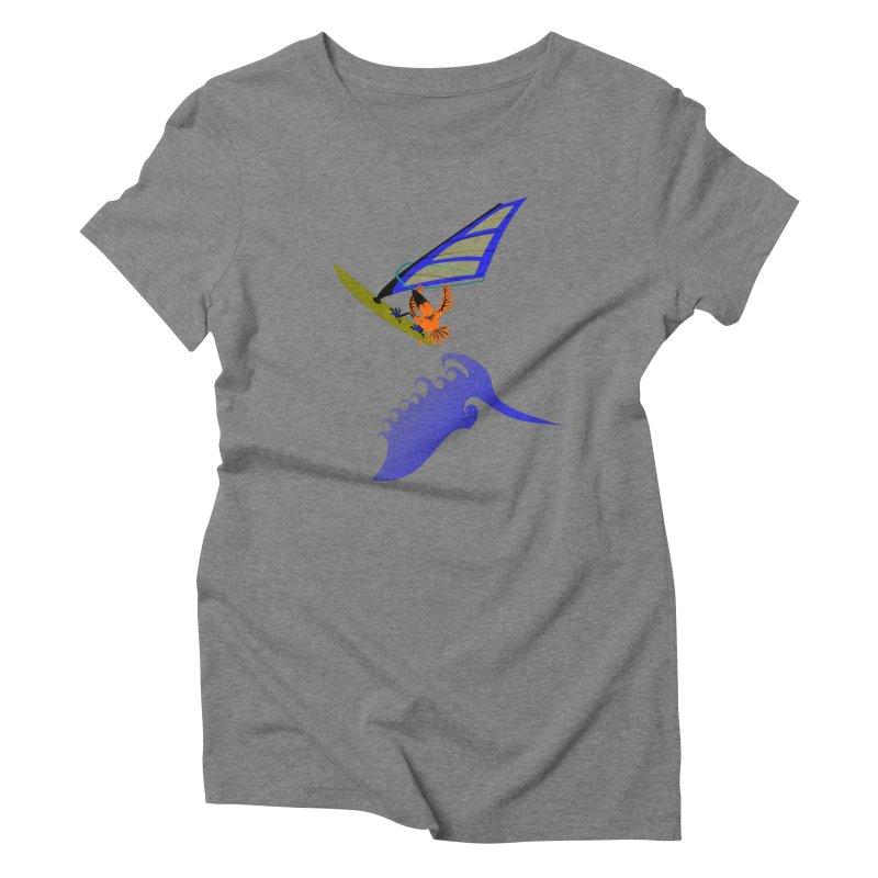 Windsurfing  Women's Triblend T-Shirt by kouzza's Artist Shop