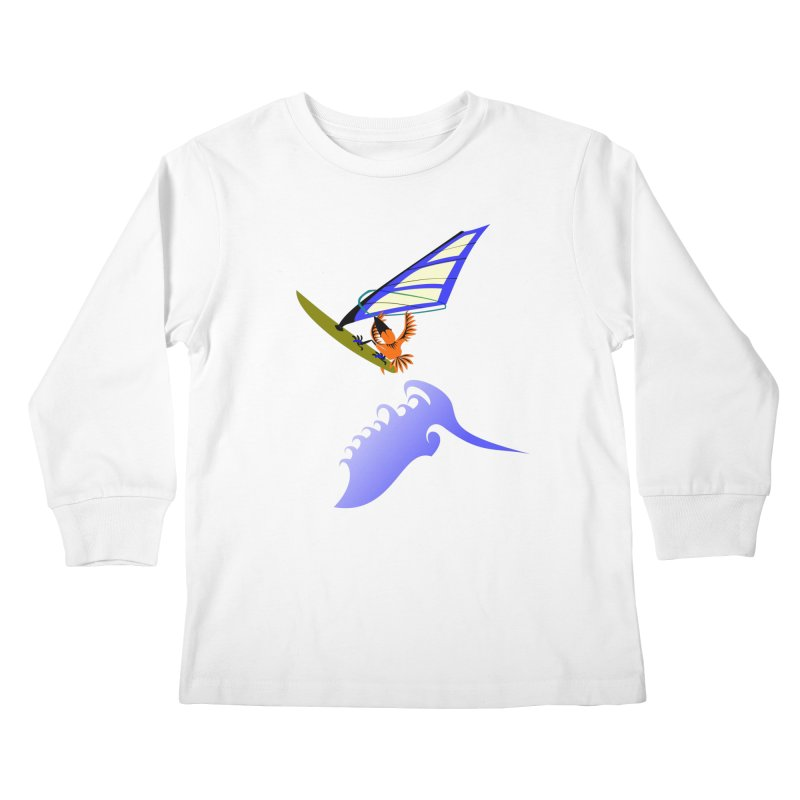 Windsurfing  Kids Longsleeve T-Shirt by kouzza's Artist Shop