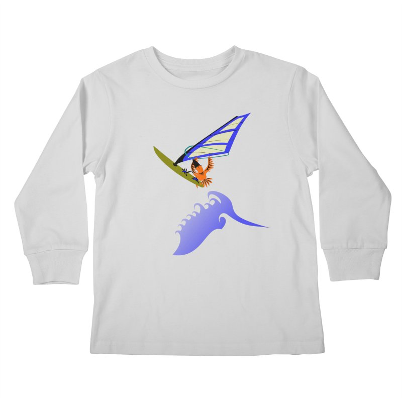 Windsurfing  Kids Longsleeve T-Shirt by kouzza's Artist Shop
