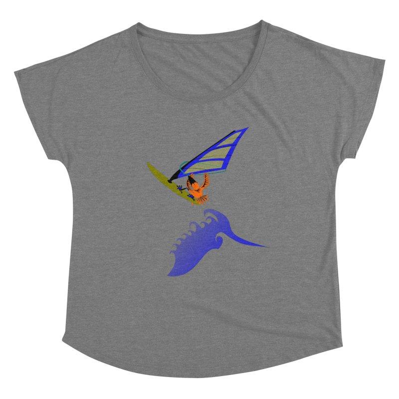 Windsurfing  Women's Scoop Neck by kouzza's Artist Shop