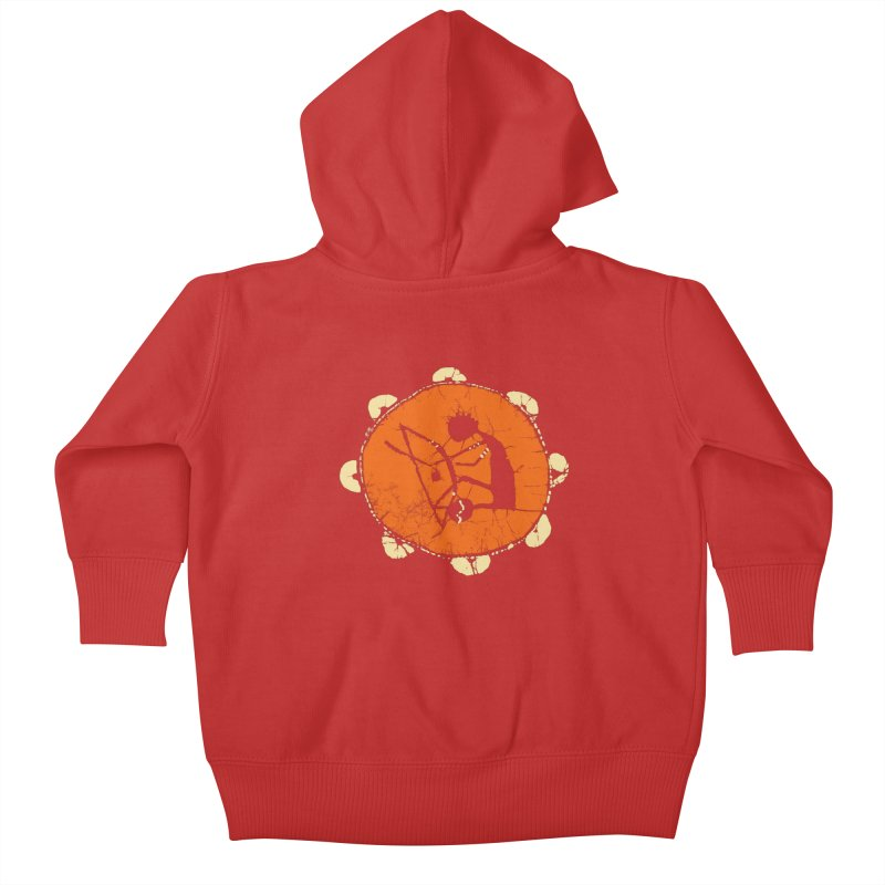 Berimbau Kids Baby Zip-Up Hoody by kouzza's Artist Shop