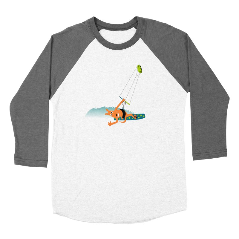 Kitesurfer Women's Longsleeve T-Shirt by kouzza's Artist Shop