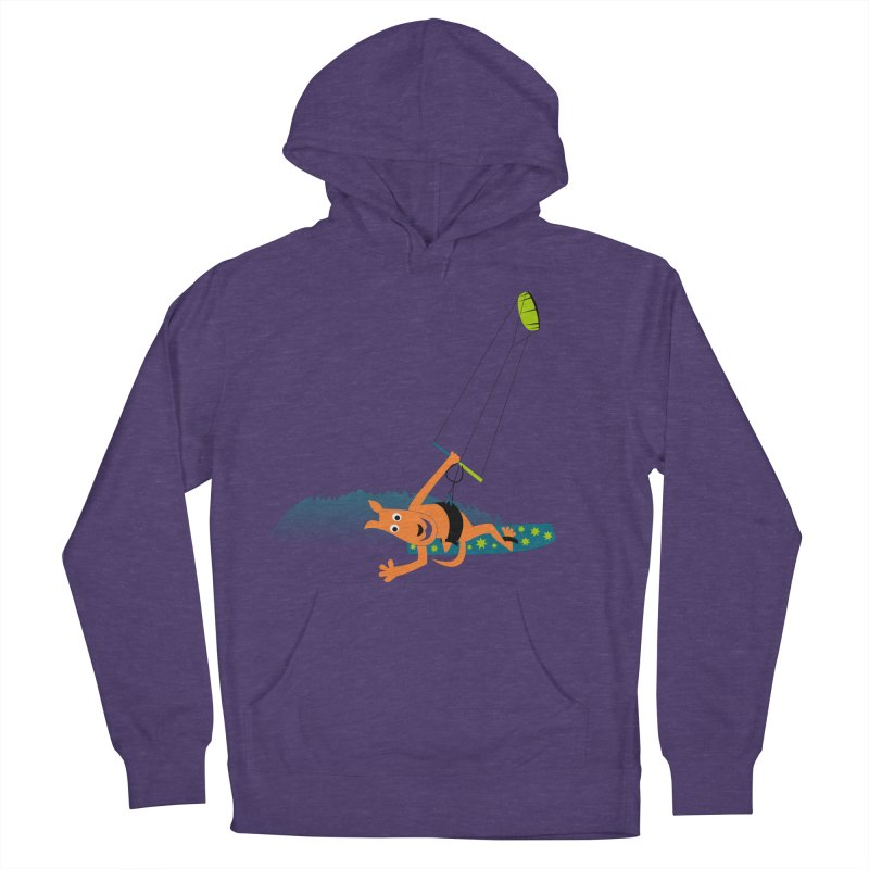 Kitesurfer Women's French Terry Pullover Hoody by kouzza's Artist Shop
