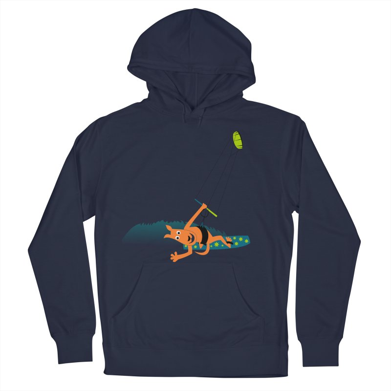 Kitesurfer Men's French Terry Pullover Hoody by kouzza's Artist Shop