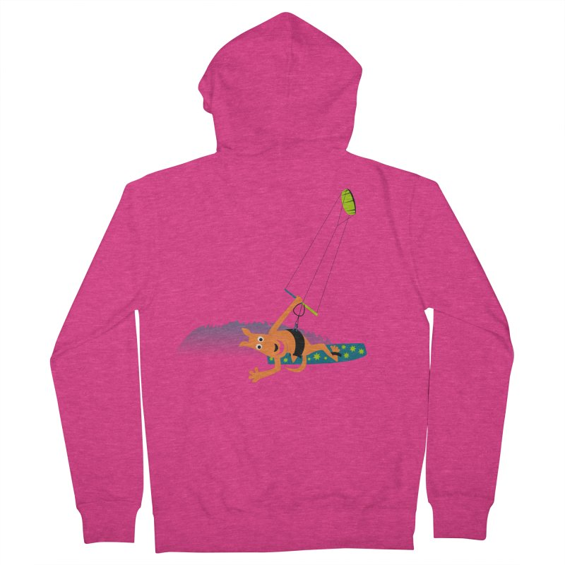 Kitesurfer Women's French Terry Zip-Up Hoody by kouzza's Artist Shop
