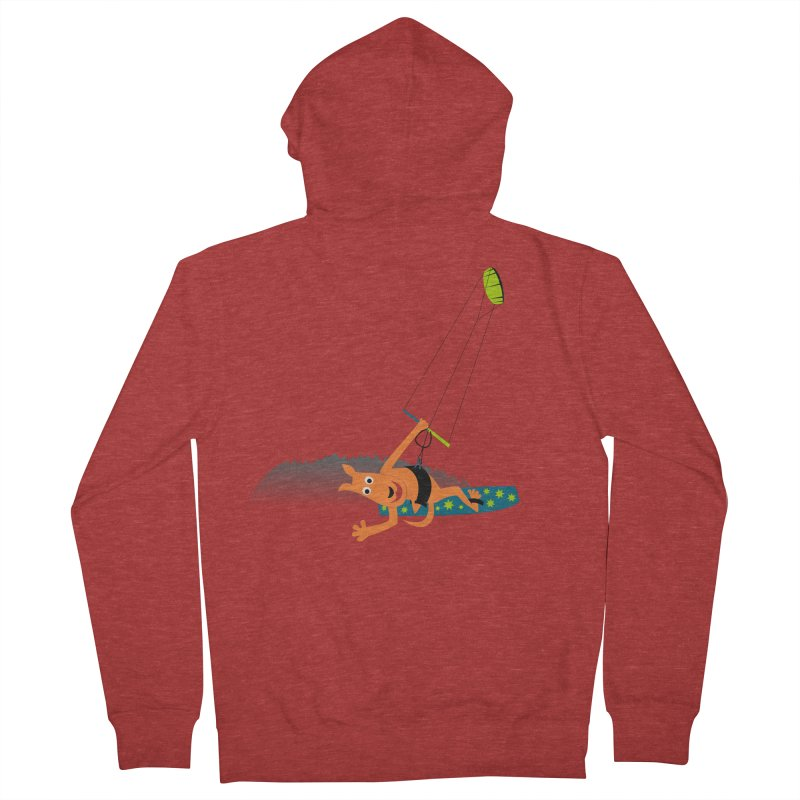 Kitesurfer Men's Zip-Up Hoody by kouzza's Artist Shop