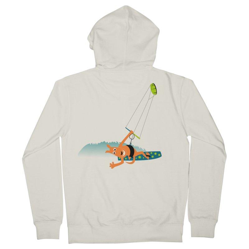 Kitesurfer Men's Zip-Up Hoody by kouzza's Artist Shop
