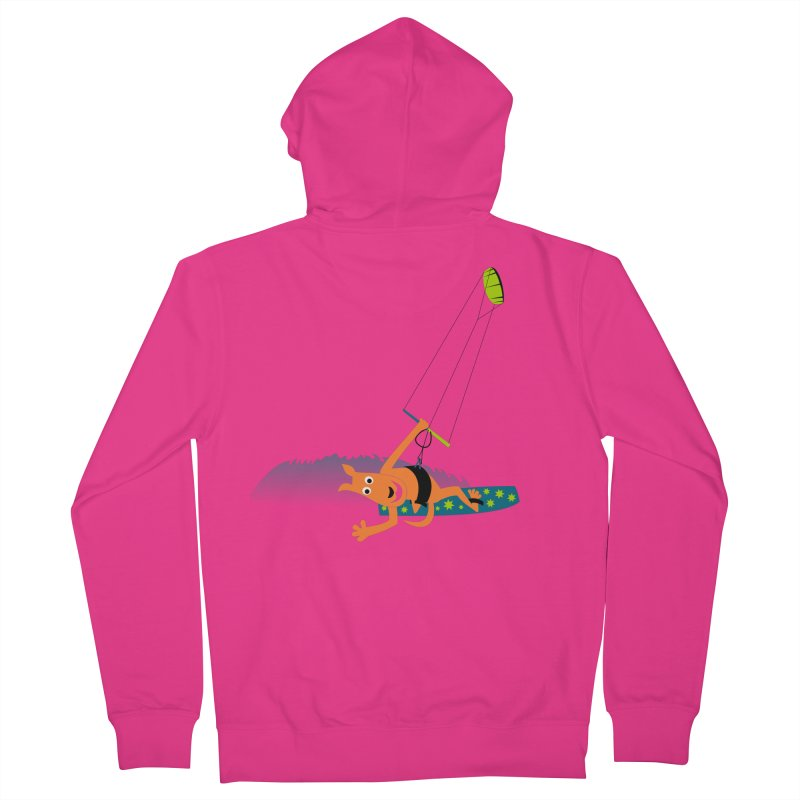 Kitesurfer Men's French Terry Zip-Up Hoody by kouzza's Artist Shop