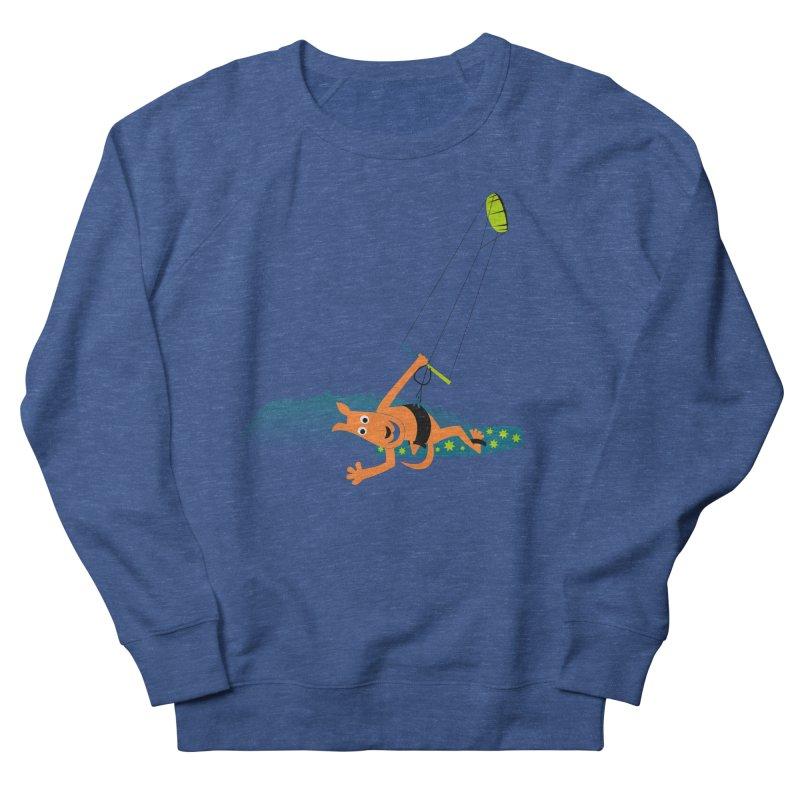 Kitesurfer Women's French Terry Sweatshirt by kouzza's Artist Shop