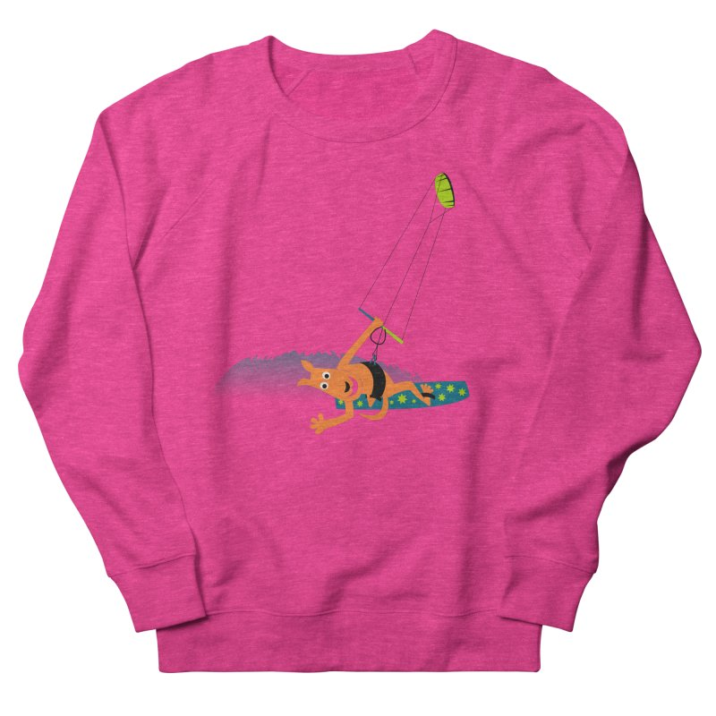 Kitesurfer Women's French Terry Sweatshirt by kouzza's Artist Shop
