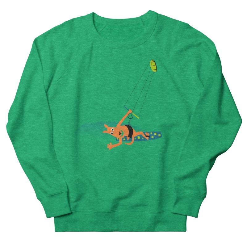 Kitesurfer Men's French Terry Sweatshirt by kouzza's Artist Shop