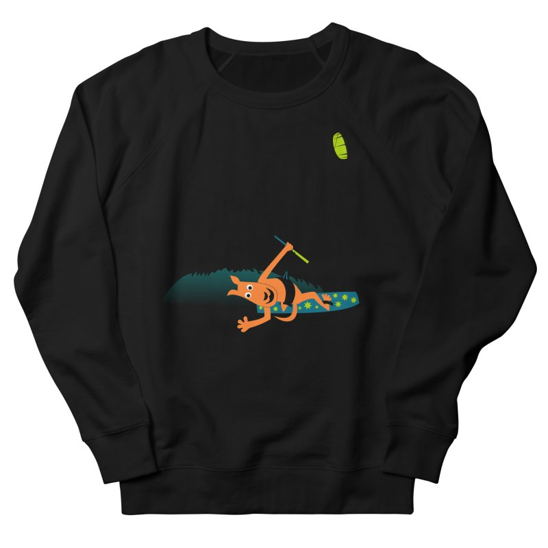 Kitesurfer Men's French Terry Sweatshirt by kouzza's Artist Shop