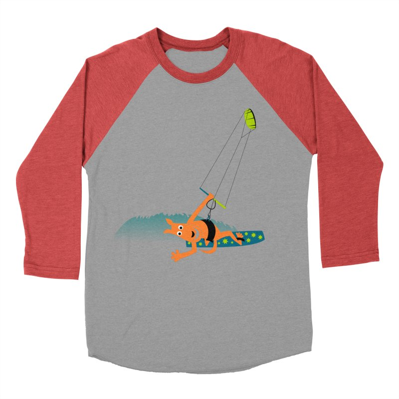 Kitesurfer Women's Baseball Triblend Longsleeve T-Shirt by kouzza's Artist Shop