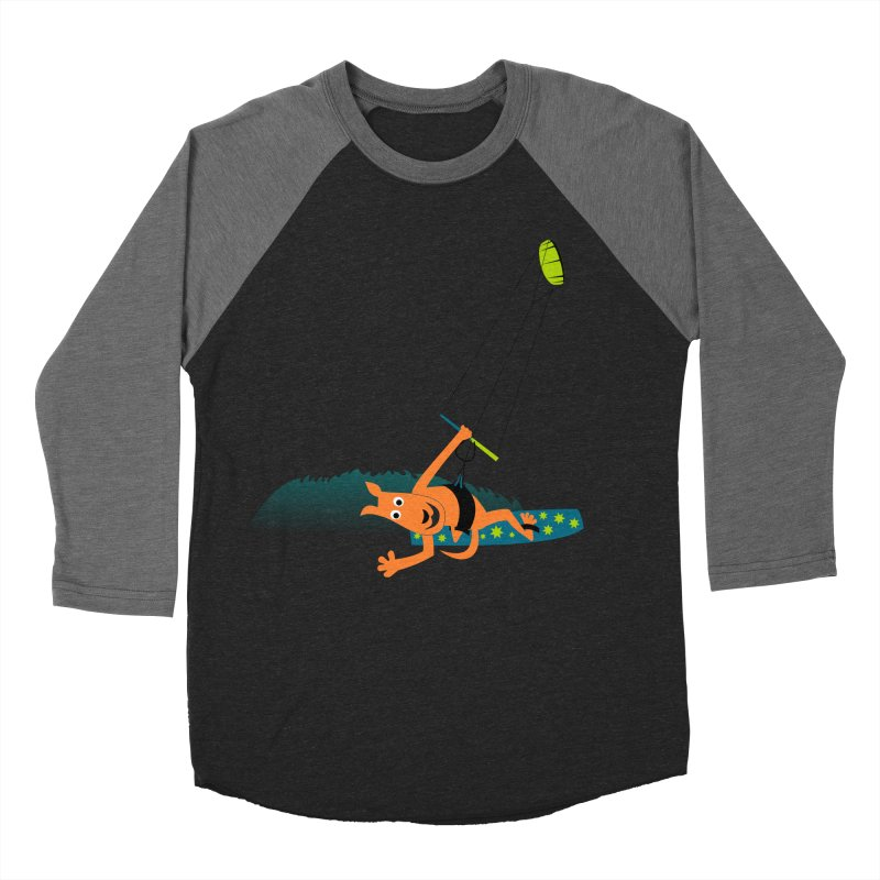 Kitesurfer Men's Baseball Triblend Longsleeve T-Shirt by kouzza's Artist Shop