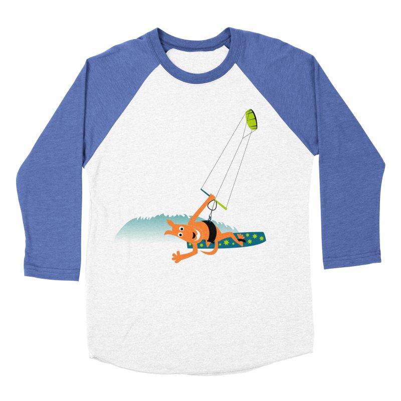 Kitesurfer Men's Baseball Triblend T-Shirt by kouzza's Artist Shop