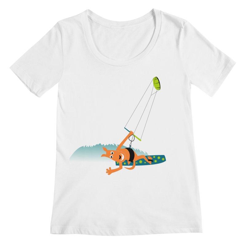 Kitesurfer Women's Regular Scoop Neck by kouzza's Artist Shop