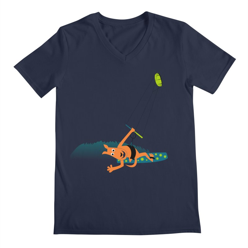 Kitesurfer Men's Regular V-Neck by kouzza's Artist Shop
