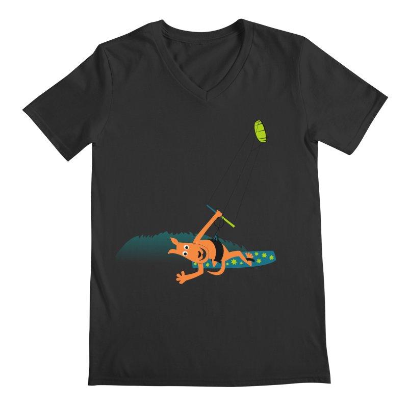 Kitesurfer Men's Regular V-Neck by kouzza's Artist Shop