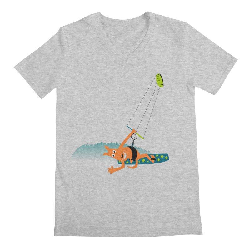 Kitesurfer Men's V-Neck by kouzza's Artist Shop