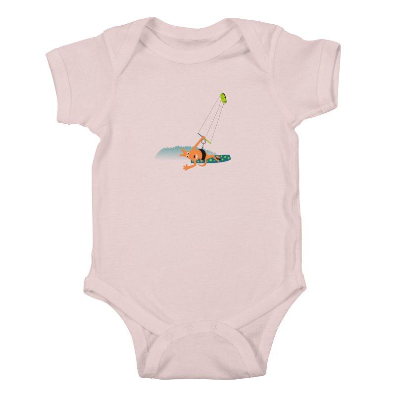 Kitesurfer Kids Baby Bodysuit by kouzza's Artist Shop
