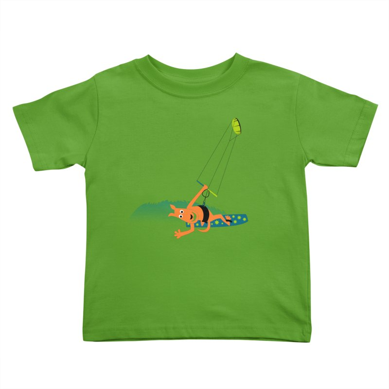 Kitesurfer Kids Toddler T-Shirt by kouzza's Artist Shop