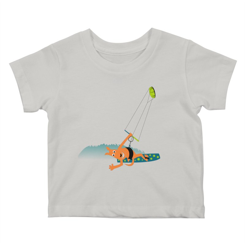 Kitesurfer Kids Baby T-Shirt by kouzza's Artist Shop