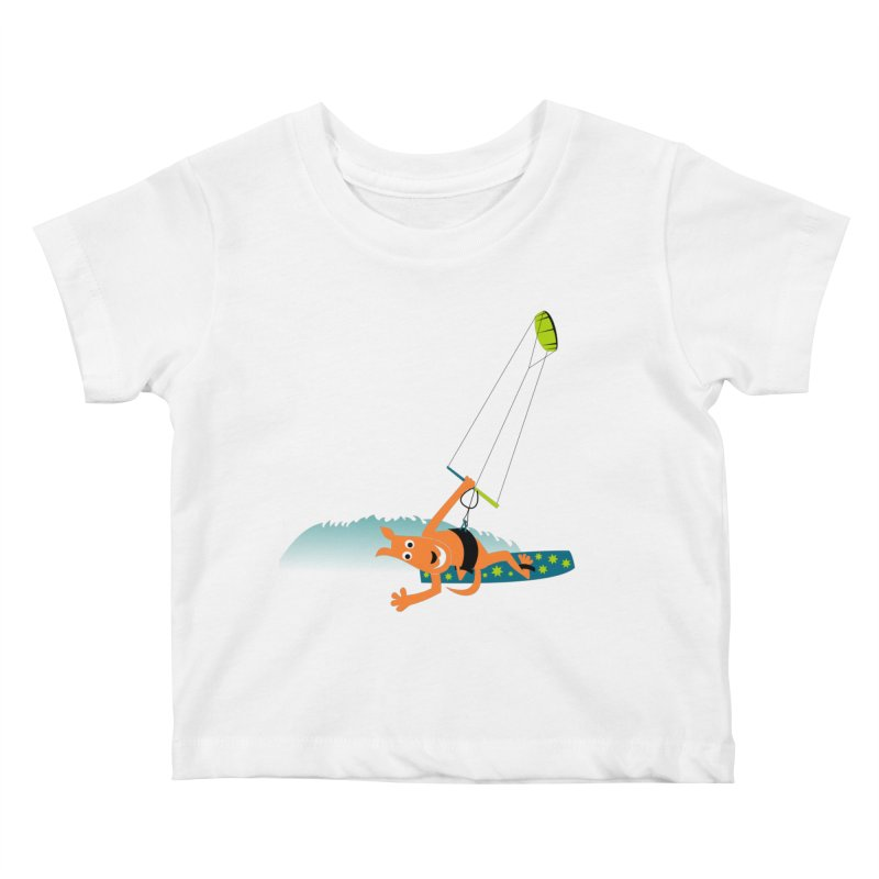 Kitesurfer Kids Baby T-Shirt by kouzza's Artist Shop