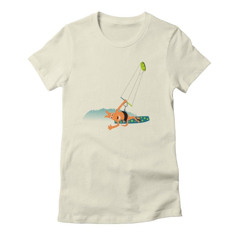 Kitesurfer Women's T-Shirt by kouzza's Artist Shop