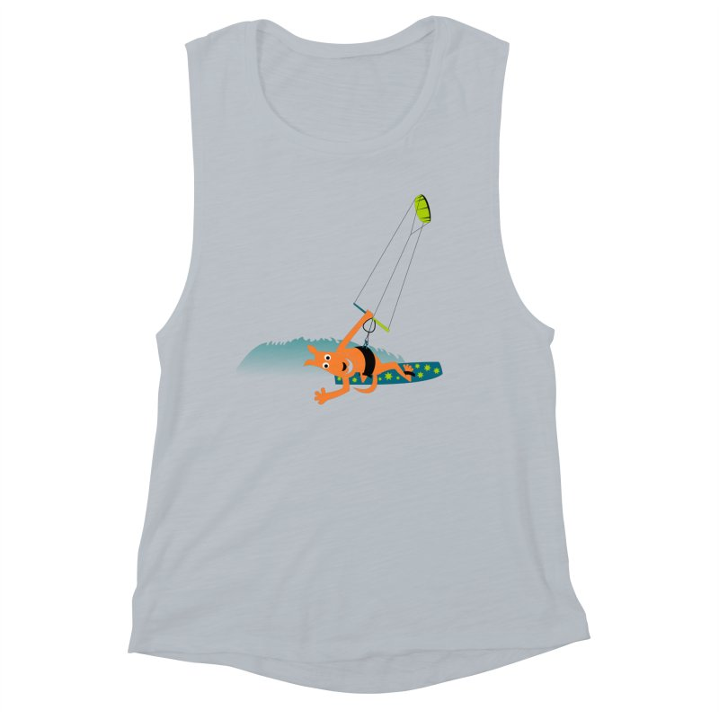Kitesurfer Women's Muscle Tank by kouzza's Artist Shop
