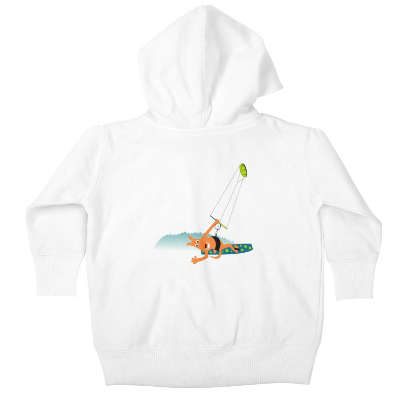 Kitesurfer Kids Baby Zip-Up Hoody by kouzza's Artist Shop