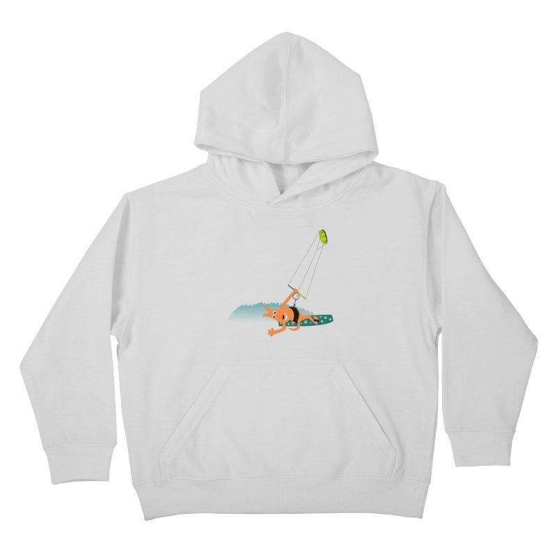 Kitesurfer Kids Pullover Hoody by kouzza's Artist Shop
