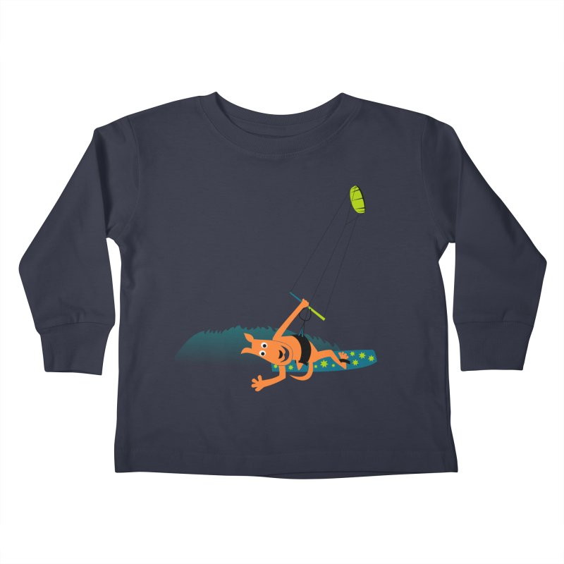 Kitesurfer Kids Toddler Longsleeve T-Shirt by kouzza's Artist Shop