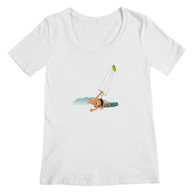 Kitesurfer Women's Regular Scoop Neck by kouzza's Artist Shop