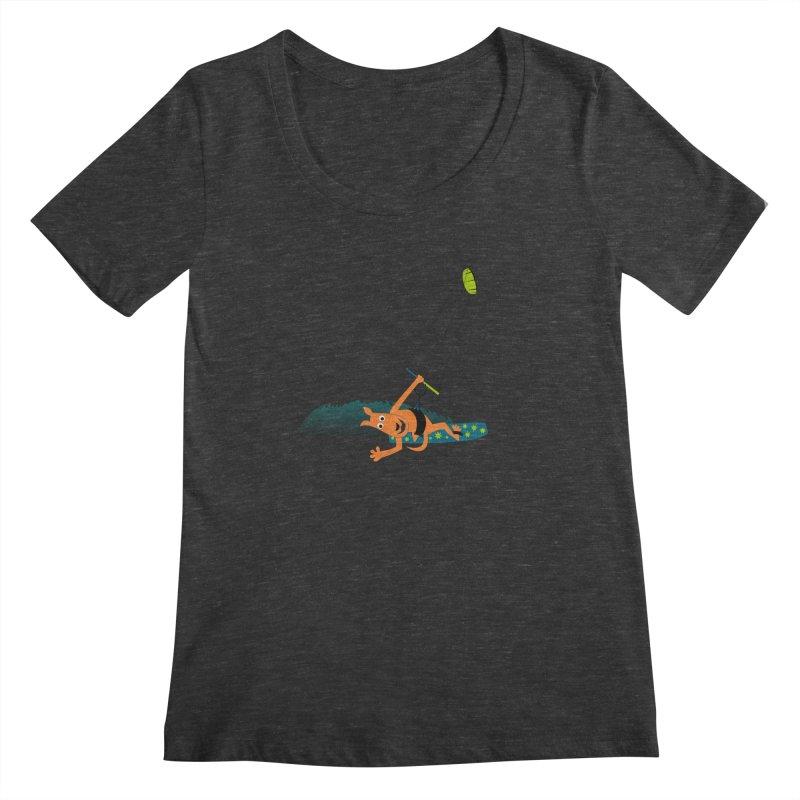 Kitesurfer Women's Scoopneck by kouzza's Artist Shop