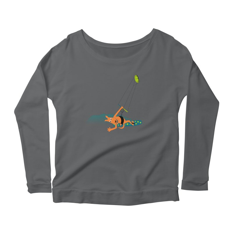 Kitesurfer Women's Scoop Neck Longsleeve T-Shirt by kouzza's Artist Shop