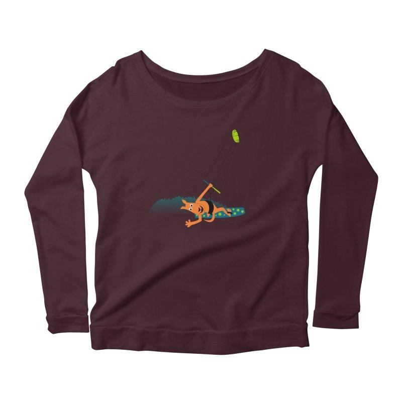 Kitesurfer Women's Scoop Neck Longsleeve T-Shirt by kouzza's Artist Shop