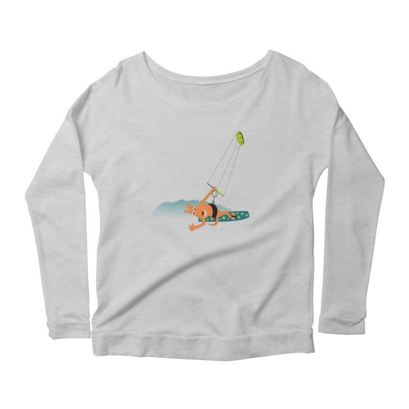 Kitesurfer Women's Longsleeve Scoopneck  by kouzza's Artist Shop