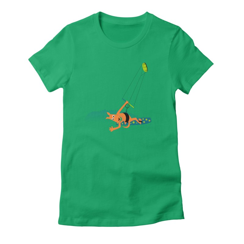 Kitesurfer Women's Fitted T-Shirt by kouzza's Artist Shop