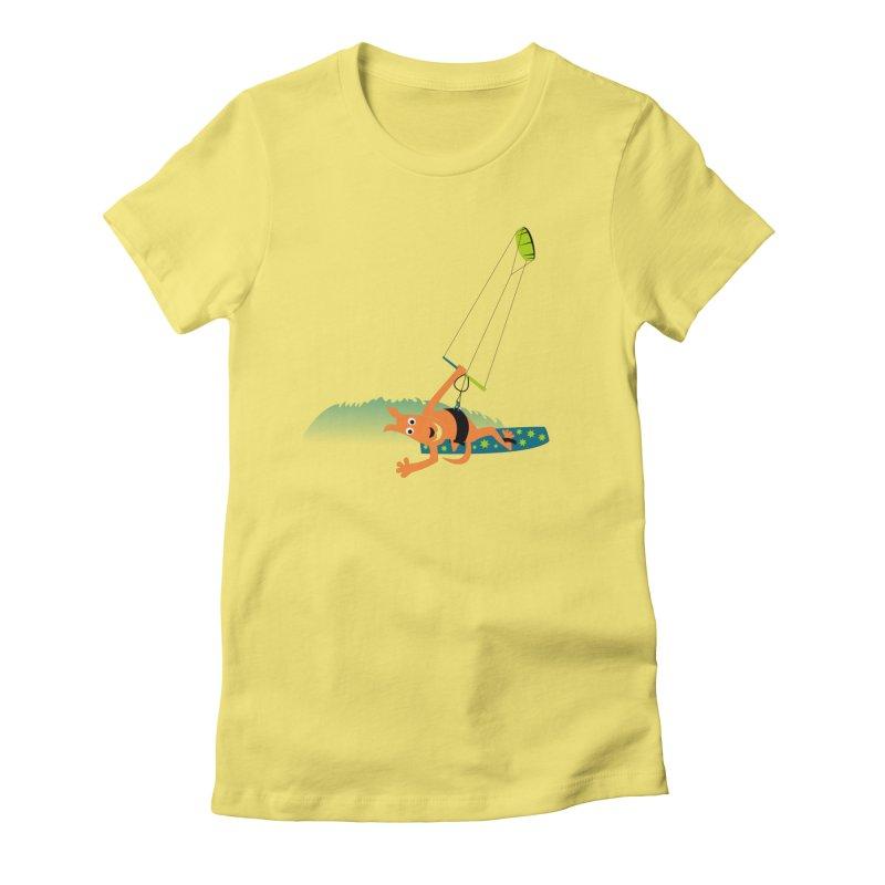 Kitesurfer Women's Fitted T-Shirt by kouzza's Artist Shop