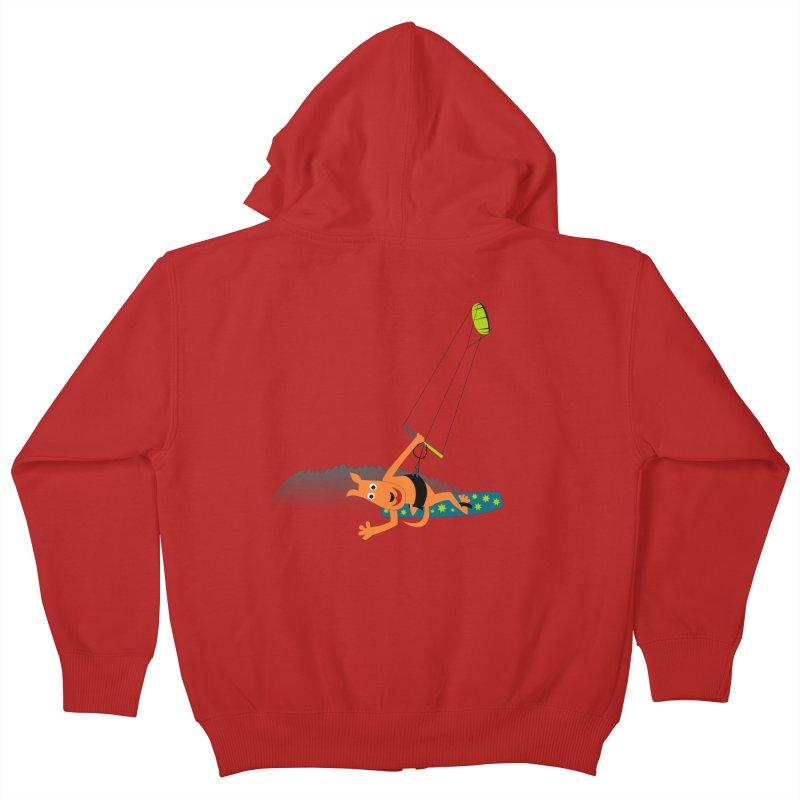 Kitesurfer Kids Zip-Up Hoody by kouzza's Artist Shop